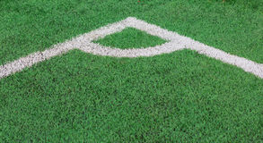 Green Grass texture of soccer field corner Royalty Free Stock Photos