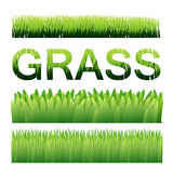 Green grass vector background elements. Ai10 Royalty Free Stock Photography