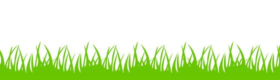 Green grass on white background - for stock. Green grass on white background - stock vector Royalty Free Stock Photo