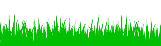 Green grass on white background - vector. For stock Royalty Free Stock Photos