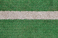 Green grass and White strip Royalty Free Stock Photography