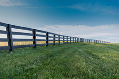 Free Green Grass With Black Fence Over Hill Royalty Free Stock Photo - 94143785