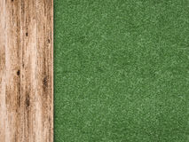 Green grass with wooden floor Stock Photography