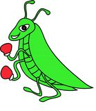 Green grasshopper. On a white background Royalty Free Stock Image