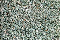 Green gravel stone floor texture background.  royalty free stock images