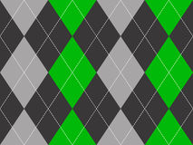 Green gray argyle fabric texture seamless pattern. Flat design. Vector illustration Stock Image