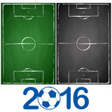 green and gray black board soccer fields Stock Photography