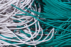 Green and gray cords Royalty Free Stock Photos