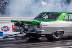 Green and Gray Dragster Stock Photos