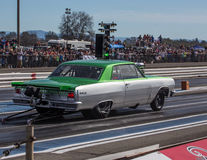 Green and Gray Dragster Royalty Free Stock Images