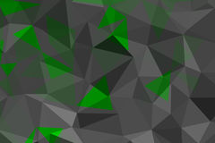 Green and gray geometric rumpled triangular Stock Photography