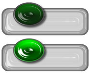 Green gray glassy Rollover. Rollover buttons suitable for websites or other Royalty Free Stock Photos