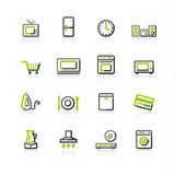 Green-gray household appliance Stock Photography