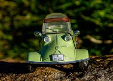 Green and Gray Miniature Car Toy Stock Photo