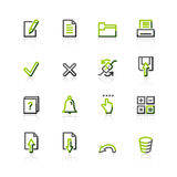 Green-gray notebook icons Stock Photos