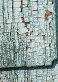 Green gray paint mottled wooden doors Royalty Free Stock Photos