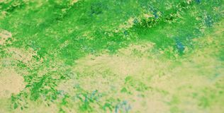 Green soft romantic painting watercolor background, abstract painting watercolor background stock photography