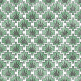 Green, Gray and White Marijuana Tile Pattern Repeat Background Royalty Free Stock Photos