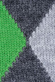 Green and gray woolen decorative fabric texture background, close up Royalty Free Stock Photos