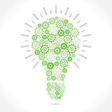 Green Grear make bulb Royalty Free Stock Photos