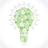 Green Grear make bulb Royalty Free Stock Photos