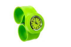 Green and green  wrist watch Royalty Free Stock Photo