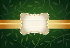 Green Greeting card Royalty Free Stock Image