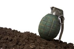 Green grenade on white Stock Photography