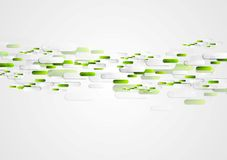 Green grey abstract tech vector illustration Stock Photography