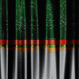 Green and grey curtain background Stock Photos