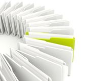 Green and grey folders Royalty Free Stock Image