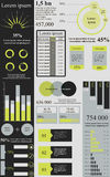 Green grey infographics Royalty Free Stock Photo