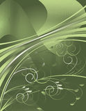 Green and grey ribbons Stock Photos
