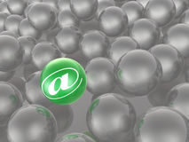 Green and grey spheres Stock Photography