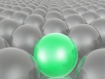 Green and grey spheres. As abstract background, 3D illustration stock illustration