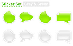 Green grey stickers Royalty Free Stock Images