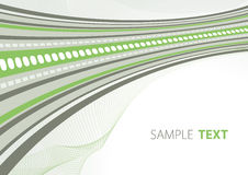 Green and grey techno template Royalty Free Stock Images