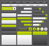 Green and grey website buttons template. Stock Image