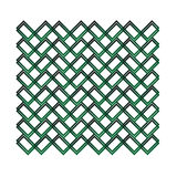 Green grid. Geometric pattern. Royalty Free Stock Photography