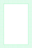Green Grid Paper Texture Border Stock Image