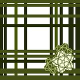 Green grid with stars - on white Royalty Free Stock Photo
