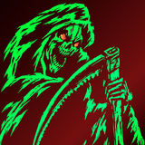 Green Grim Reaper Illustration royalty free stock photos