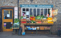 Green grocers store front Cley Norfolk England. Royalty Free Stock Photos