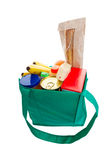 Green grocery bag Stock Images
