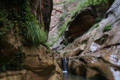 Green Grotto Waterfall Stock Image