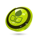 Green growing button Stock Image