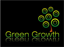 Green Growth background Royalty Free Stock Photo
