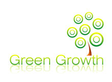 Green Growth background Stock Photo