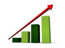 Green growth bar chart Stock Image