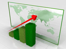 Green growth chart Royalty Free Stock Photography